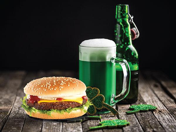 St. Patrick's Day 1/4 Pounder Burger