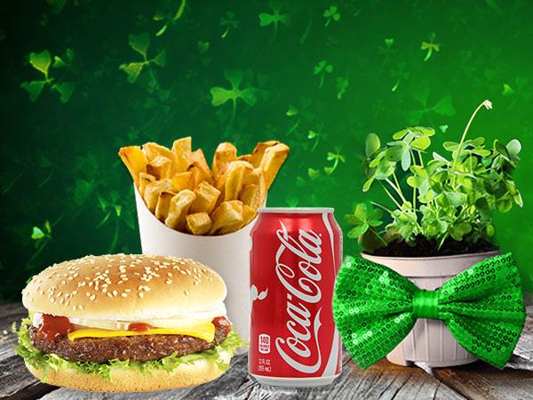St. Patrick's Day 1/4 Pounder Chicken Burger
